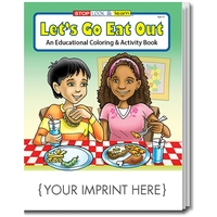 Let's Go Eat Out Coloring Book