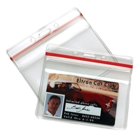 SEALABLE HORIZONTAL CARD HOLDER
