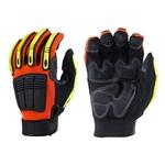 Deluxe, mechanics glove, grip palm, rubber knuckle guards