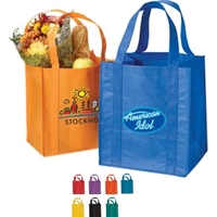 "Grocery Non Woven Tote Bag with 20"" Straps 80GSM"