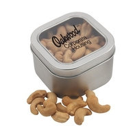 Large Tin with Window Lid and Cashews