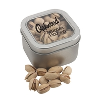 Large Tin with Window Lid and Pistachios