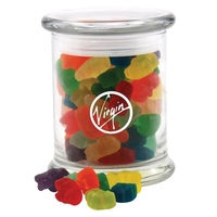 Gummy Bears in a Large Round Glass Jar with Lid