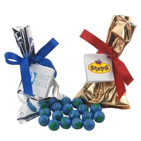 Chocolate Globes Favor/Mug Stuffer Bags with Ribbon