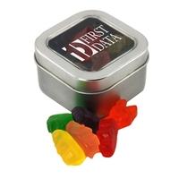 Tin with Window Lid and Gummy Bears
