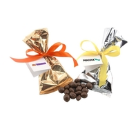 Chocolate Covered Peanuts Favor/Mug Stuffer Bags with Ribbon