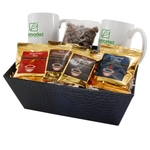 Tray with Mugs and Chocolate Covered Peanuts
