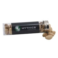 "Pistachios in a 5 "" Plastic Tube with Metal Cap"