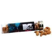 "Cashews in a 6 "" Plastic Tube with Metal Cap"