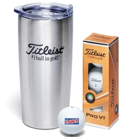 Titleist 3-Ball Stainless Steel Travel Mug