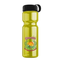 Champion - 28 oz Transparent Sports Bottle with Tethered Lid