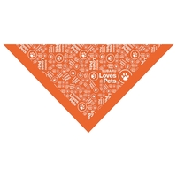 Rotary Printed Small Triangle Bandanna