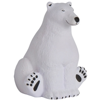 Squeezies® Sitting Polar Bear Stress Reliever