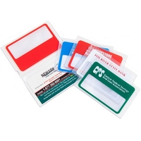 Credit Card Size Magnifier in Clear Bi-Fold Case
