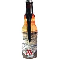 Neoprene Bottle Zipper Coolie with Full Color Imprint