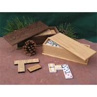 "2"" x 7"" - Wood Game - Dominoes Set - Laser Engraved"
