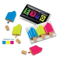3-Piece Ice Pop Highlighter Set in Clear Box