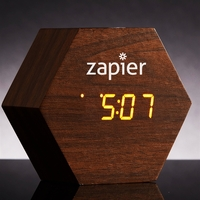 Modern Hexagon LED Clock