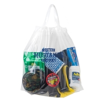 Crystal Clear Stadium Security Poly-Draw Tape Bag- Flexo