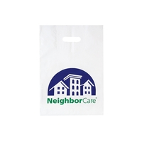 Patch Handle Reinforced Plastic Die Cut Bag - Flexo Ink