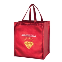 Metallic Gloss Smooth Designer Grocery Totes - Screen Print