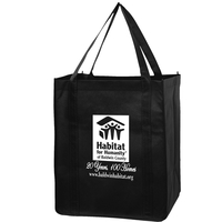 Recession Buster Non-Woven Grocery Totes - Screen Print