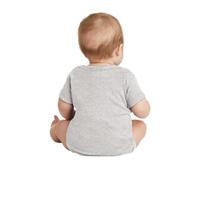 Rabbit Skins Infant Short Sleeve Baby Rib Bodysuit.