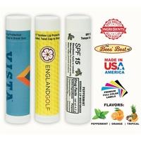 Bee-Licious Beeswax SPF15 Natural Peppermint Lip Balm