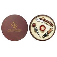 Montalcino - Round 4 Piece Wine Tool Set