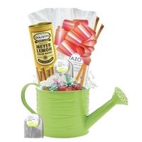 Tea & Cookies Watering Can Gift Basket