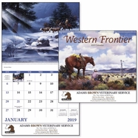 Spiral Western Frontier Americana 2019 Appointment Calendar