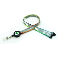 Digitally Sublimated Lanyard w/ Sewn in Badge Reel