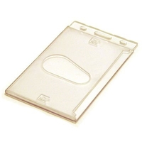 Blank Stock Hard Plastic Card Holder/ Portrait
