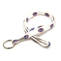 Silkscreened Tubular Lanyard w/a Key Ring