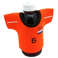 One Color Silkscreened Jersey Shaped Neoprene Cooler
