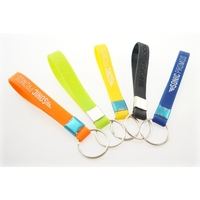 Debossed Silicone Keychain