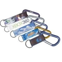 Laser Engraved Carabiner w/ 4-Color Key Fob