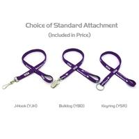"""3/8"""" Silkscreened Tubular Lanyard w/ a Key Ring"""