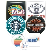 Square/ Circle/ Oval 2 to 3 Square Inch Domed Labels