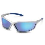 Silver frame, horizon blue lens, 4X4 safety glass