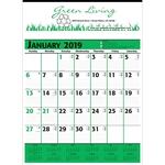 Green & Black Commercial Planner Calendar