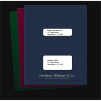 Tax Software Folder-Double Windows w/ Top-Staple