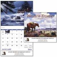 Stapled Western Frontier Americana 2019 Appointment Calendar