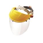 Yellow frame, clear face shield, Venom headgear