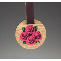 "2"" x 2"" - Wood Veneer Keychains - 1 Sided Color Printed"