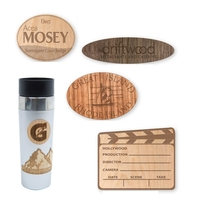 Lasered Wood Decals, 20 Mil Thick