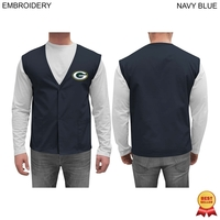 Twill Staff / Clerk Vest, Embroidered or Blank