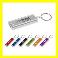 Rectangular LED Flashlight Keychain