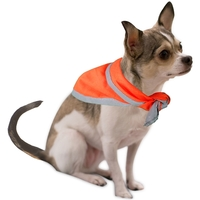 Pet triangle bandanna with reflective binding- small