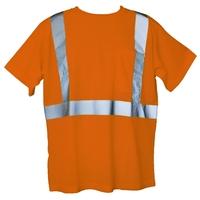 Orange S/M Short Sleeve Hi-Viz Safety T-Shirt